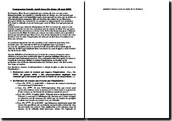 Commenter l'arrêt Arrêt Cass Civ 2ème 18 mai 2000