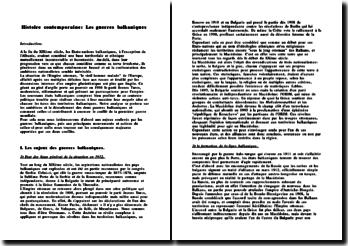 Les guerres balkaniques.