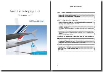 Audit stratégique et financier d'Air France (2010)