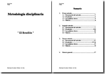 Dossier méthodologie en espagnol sur le Botellon
