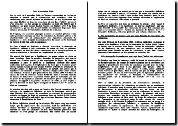 Chambre commerciale, 9 novembre 2004, Mandataire et liquidateur judiciaire et action en responsabilité du loueur du fonds de commerce