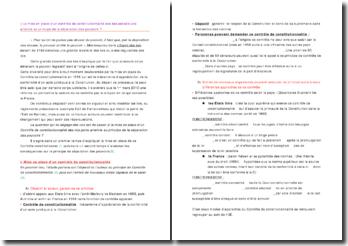 dissertation sur la constitutionalité des lois et le principe de séparation des pouvoirs