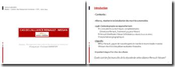 MIRH- Cas de l'alliance Renault/Nissan