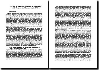Le rôle de la PAC sur l'évolution de l'agriculture et de l'espace rural français depuis 1962