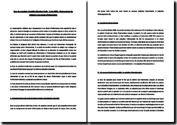 Commentaire d'arrêt - 3 juin 2010 - Chambre Civile - Manquement du médecin à son devoir d'information