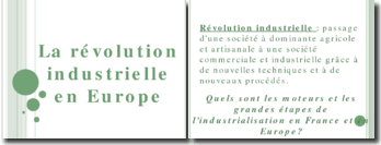 la révolution industrielle en France et en Europe