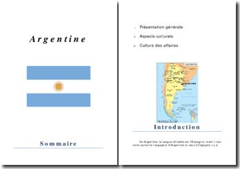 Dossier pays : Argentine