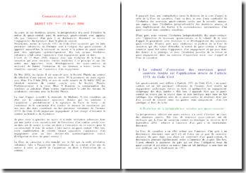 Commentaire d'arrêt quasi contrat CIV. 3ème 15 Mars 2006