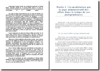Conseil d'Etat 3 mars 2009 Association française contre les myopathies - modulation des effets dans le temps d'une décision d'annulation