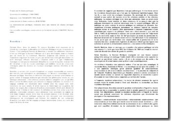 Théories en Science Politique : Bourdieu et le constructivisme structuraliste