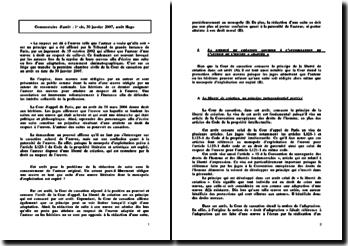 Commentaire d'arrêt, Victore Hugo, 1e civ, 30 janvier 2007