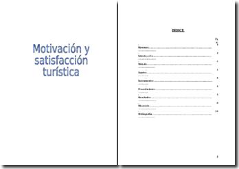 Motivation et satisfaction - tourisme (en espagnol)