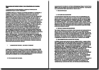 Commentaire de l'article 3 alinéa 1 de la Constitution du 4 octobre 1958.