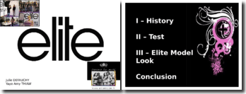 Anglais - Exposé Elite Model Power Point