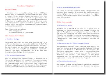 Commentaire Candide ou l'Optimisme Chapitre I
