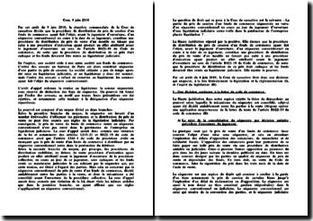 Chambre commerciale, 8 juin 2010 : procédure collective et séquestre conventionnel