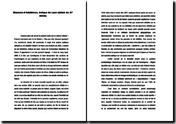 Discours d'Adalbéron, évêque de Laon (début du XIe siècle)