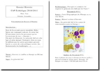 Dossier d'histoire CAP