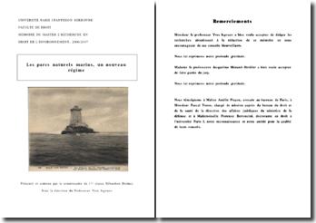 Les parcs naturels marins, un nouveau régime (2007)