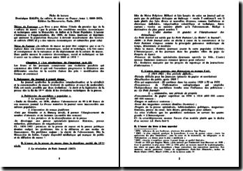 La culture de masse en France, tome 1, 1860-1930 - Dominique Kalifa,