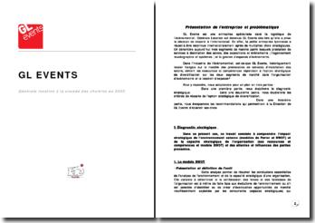 Etude de cas de GL Events spécialisée en logistique de l'événementiel