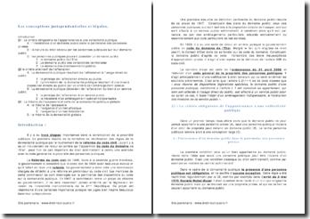 Les conceptions jurisprudentielles et légales de la domanialité publique