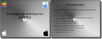 Exposé POWERPOINT sur le Stratégie de Distribution de l'entreprise Apple