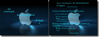 Powerpoint Exposé de la stratégie de distribution d'Apple