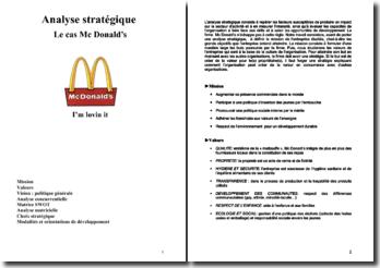 Analyse Stratégique McDonald (2007)