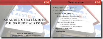 Etude Stratégique Groupe Alstom