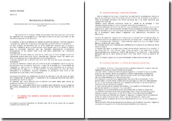 commentaire d'arrêt de la Première Chambre civile du 3 février 2004