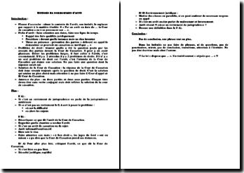 Methode detaillee du commentaire d'arret en droit civil