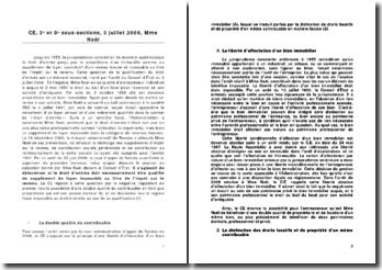 Conseil d'Etat, 3e et 8e sous-sections, 3 juillet 2009, Mme Noël - supplément de loyer imposable au titre de l'impôt sur le revenu