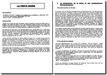 La Peste Noire, texte de Jean de Venette