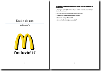 Stratégie marketing McDOnalds