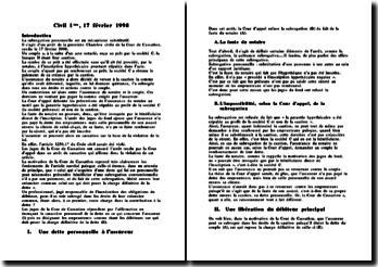 Cass 1ère civ 17 février 1999