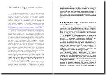 De Poujade à Le Pen, le national populisme en France.