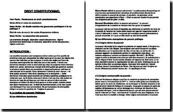 Cours droit constitutionnel 1ère année
