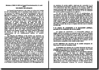 Décision n 2005-513 DC du Conseil Constitutionnel du 14 avril 2005 Loi relative aux aéroports
