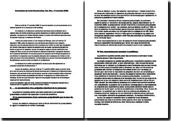 Commentaire de l'arrêt Peruche (Cassation, assemblée plénière, 17 novembre 2000)