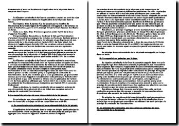 Commentaire d'arrêt chambre criminelle 11 mai 2005