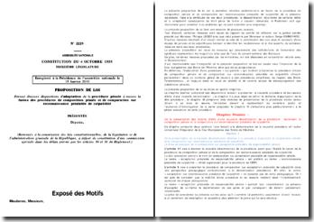 Proposition de loi fusion de la composition pénale et de la CRPC