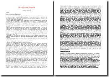 Le mythe de Sisyphe- Camus