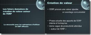 Les futurs domaines de création de valeur autour de l'ERP