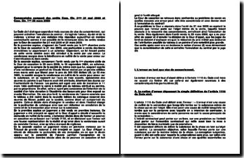 Commentaire comparé des arrêts Cass. Civ. 3ème 21 mai 2008 et Cass. Civ. 1ère 28 mars 2008