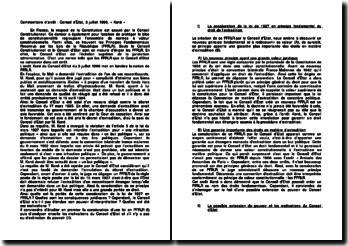 Commentaire d'arrêt : Conseil d'Etat, 3 juillet 1996, « Koné »
