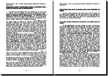 CE, Sect, 10 décembre 1993, Contrat administratif - acte détachable