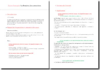 Commentaire composé : La Bruyére Les caractéres De la Cour On parle d'un pays (...)