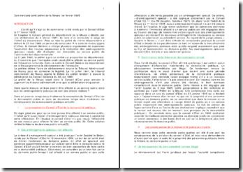 Commentaire arrêt préfet de la Meuse 1er février 1995