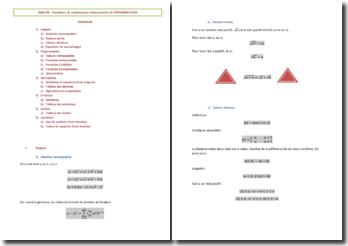 ANALYSE - Formulaire de révision pour le baccalauréat de MATHEMATIQUES
